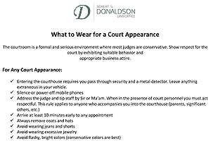What to Wear to Court Thumbnail